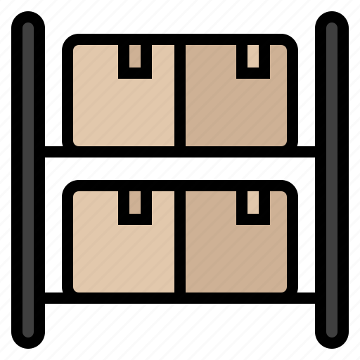 inventory, product, shipper, stock, store, supplier, warehouse icon