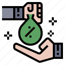 banking, business, creditor, financial, funds, loan, margin icon