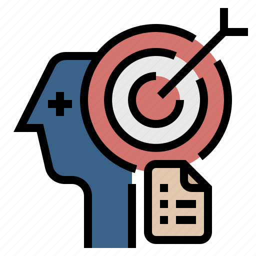aim, business objective, goal, objective, project, target icon