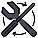 garage, hardware, maintenance, repairs, service, tools, wrench icon