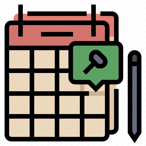 calendar, event, meeting, pin, reminder, schedule, table icon