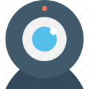 camera, video chat, video conference, web camera, webcam icon