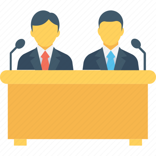 conference, interview, meeting, seminar, speech icon