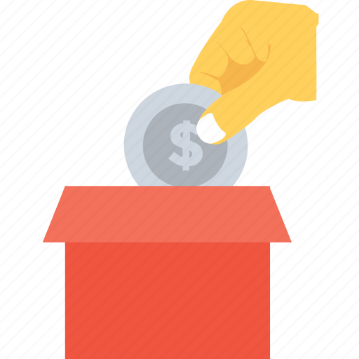 dollar, give, money box, payment, savings icon
