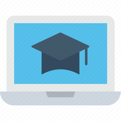 distance learning, e learning, education, learning, mortarboard icon
