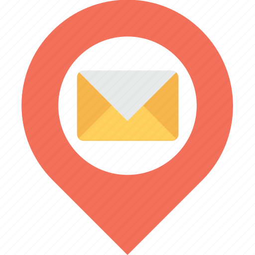 email, gps, location access, mail, navigation icon
