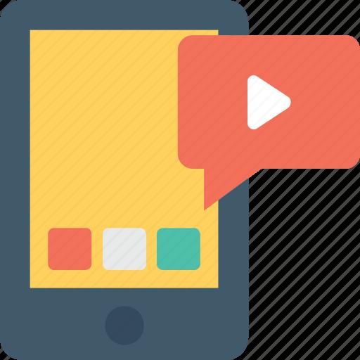 media, mobile, video, video marketing, video message icon