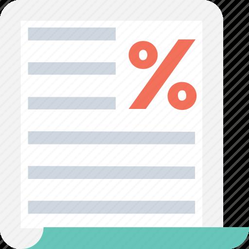 document, notice, tax, tax return, taxation icon