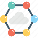 cloud computing, cloud network, networking, sharing, storage cloud icon