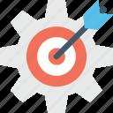 bullseye, cog, dartboard, goal, target icon
