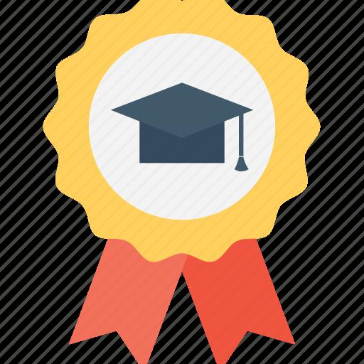 award, badge, certified, mortarboard, winner icon