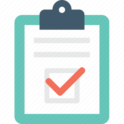 checklist, clipboard, task complet, tick, to do icon
