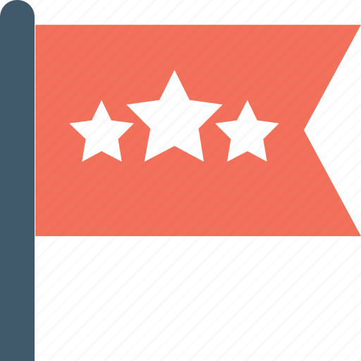 banner, feedback, flag, review, star icon