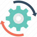 cog, refresh, reset, restore, update icon