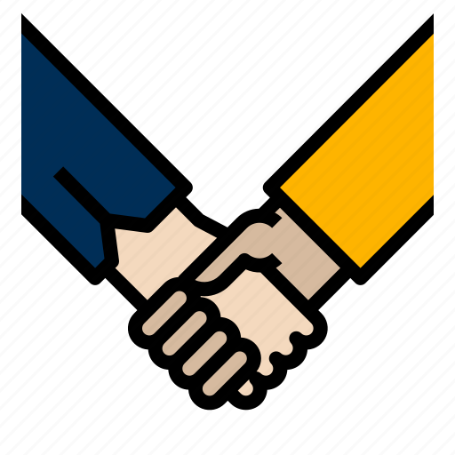 corporate, hand, partners icon
