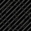 bar, border, bussiness, circle, menu, navigation icon icon