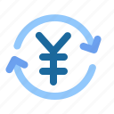 cash, exchange rate, money, money charger, payment, yuan icon