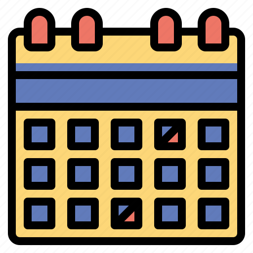and, calendar, date, organization, schedule, time icon