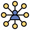 computing, connected, connections, network, networking icon