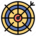 archer, arrow, objective, sport, target, weapon icon