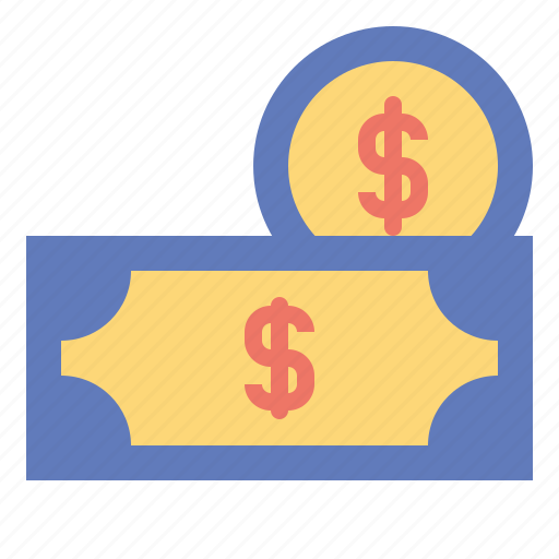 business, cash, coins, currency, finance, money, stack icon