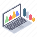 data analysis, online analytics, web analytics, website dashboard, website statistics icon