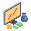 business advancement, business growth, financial growth, financial increase, growth rate, online analytics, online trend chart icon