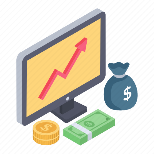 Business advancement, business growth, financial growth, financial increase, growth rate, online analytics, online trend chart icon - Download on Iconfinder