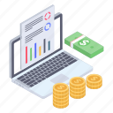 business report, financial report, financial statement, online business report, online seo report icon