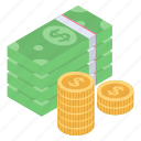 asset, banknote, dollars, funds, money icon