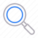glass, magnifier, search, study, zoom icon