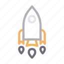 boost, business, rocket, spaceship, startup