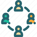 business, businessman, connection, group, team icon
