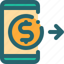 business, money, payment, transfer icon