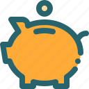 bank, coin, pig, piggybank, save