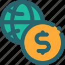 business, internet, money, world icon