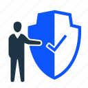 business, insurance, protection, security, shield icon