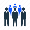 crowd, employee, human, people, team icon