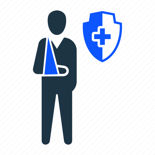 accident, care, disability, disabled, helth, insurance icon