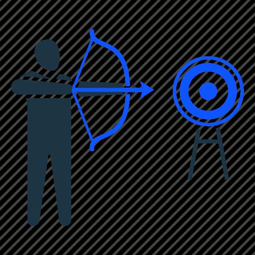 aim, aiming, archery, goal, target icon