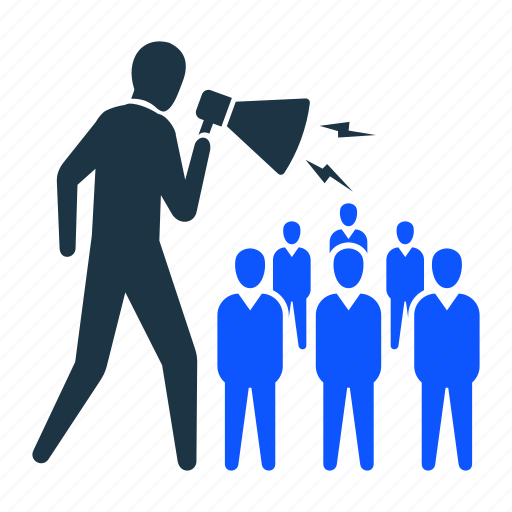 market, marketing, megaphone, people, sales, speaker, user icon