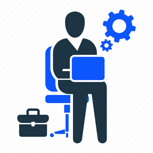 business, man, office, online, time, work, working icon