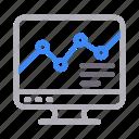 analytic, chart, graph, screen, statistics