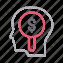 audio, dollar, head, mind, search