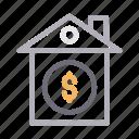 bank, dollar, house, money, saving