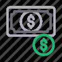 cash, currency, dollar, money, saving