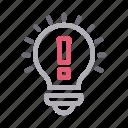 bulb, creative, idea, innovation, light icon