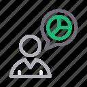 chart, finance, graph, profile, user icon