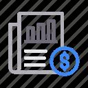 bill, document, finance, invoice, report icon