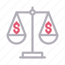 business, court, finance, money, scale icon